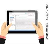 email marketing concept design... | Shutterstock .eps vector #681142780