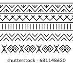unique decoration of log houses ... | Shutterstock .eps vector #681148630