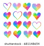 vector collections of grunge...   Shutterstock .eps vector #681148654