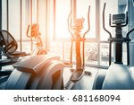 fitness hall with the sport... | Shutterstock . vector #681168094