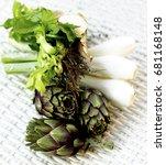 ingredients of artichoke soup...