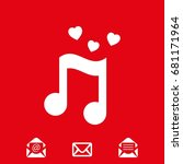 musical note with hearts icon...   Shutterstock .eps vector #681171964