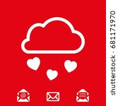 from the cloud falling hearts...   Shutterstock .eps vector #681171970