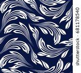seamless abstract pattern.... | Shutterstock .eps vector #681178540