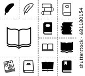 literature icon. set of 13... | Shutterstock .eps vector #681180154