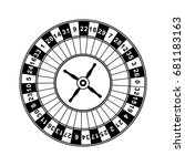 casino roulette wheel. | Shutterstock .eps vector #681183163