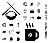 restaurant icon. set of 20... | Shutterstock .eps vector #681188440