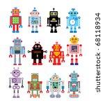 robot collection | Shutterstock .eps vector #68118934