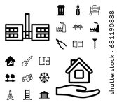 construction icon. set of 20... | Shutterstock .eps vector #681190888