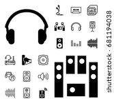 stereo icon. set of 20 stereo...   Shutterstock .eps vector #681194038