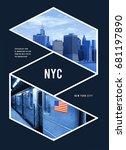 photo print new york... | Shutterstock . vector #681197890