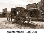 Stage Coach, 1800's - stock photo