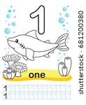 coloring printable worksheet... | Shutterstock .eps vector #681200380