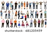 isolated  large collection of... | Shutterstock . vector #681205459