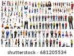 isolated  collection isometric ... | Shutterstock . vector #681205534