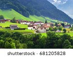 beautiful view of idyllic... | Shutterstock . vector #681205828