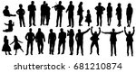 silhouette black and white... | Shutterstock . vector #681210874