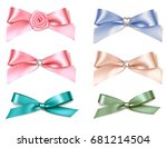 set of decorative bows for... | Shutterstock .eps vector #681214504
