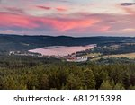 Colorful Sunset Over Lake Lipn...