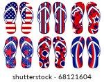 Flipflops   American Flag...