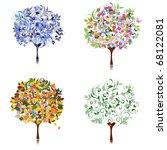 tree season | Shutterstock .eps vector #68122081