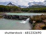 beaver dam in tierra del fuego...   Shutterstock . vector #681232690
