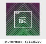 minimal poster design....   Shutterstock .eps vector #681236290