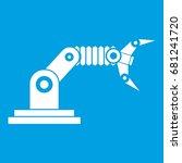 robotic hand manipulator icon... | Shutterstock .eps vector #681241720
