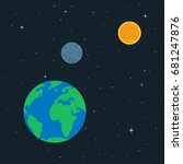 vector illustration. planet...   Shutterstock .eps vector #681247876