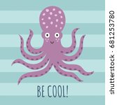 be cool greeting card  poster ...   Shutterstock .eps vector #681253780