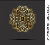 golden mandala. oriental... | Shutterstock .eps vector #681258160