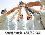 volunteering  charity  people ... | Shutterstock . vector #681259483