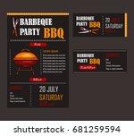 set of vector illustrations of... | Shutterstock .eps vector #681259594