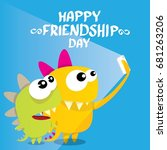 happy friends day background... | Shutterstock .eps vector #681263206