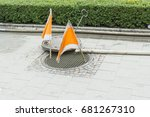 Manhole Cover With Flags