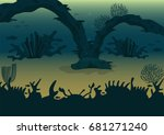 sea bottom. vector illustration.... | Shutterstock .eps vector #681271240