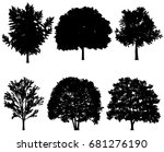 vector illustration of tree... | Shutterstock .eps vector #681276190