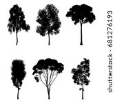 vector illustration of tree... | Shutterstock .eps vector #681276193