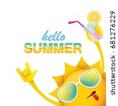 hello summer rock n roll vector ... | Shutterstock .eps vector #681276229