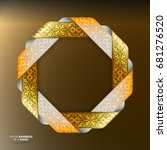 3d colorful octagon ribbon... | Shutterstock .eps vector #681276520