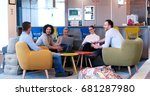 group of a young business... | Shutterstock . vector #681287980