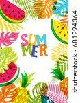 vector banner  poster  frame... | Shutterstock .eps vector #681294364