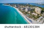 lido beach on lido key in...   Shutterstock . vector #681301384