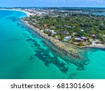 point of rocks on siesta key in ... | Shutterstock . vector #681301606