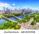 beautiful austin texas   aerial ... | Shutterstock . vector #681303508