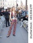 paris march 4  2015. top model...   Shutterstock . vector #681306199