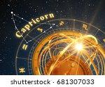 zodiac sign capricorn and... | Shutterstock . vector #681307033