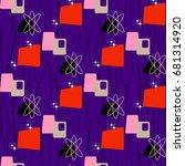 seamless abstract pattern.... | Shutterstock .eps vector #681314920