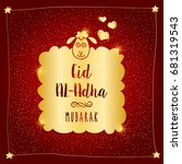 eid al adha mubarak vector...   Shutterstock .eps vector #681319543