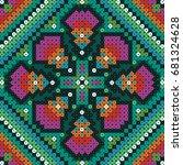 mexican art pattern   Shutterstock .eps vector #681324628